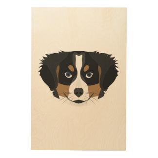 Impressão Em Madeira Cão de montanha de Bernese da ilustração