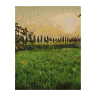 Impressão Em Madeira Casa de campo e fazenda