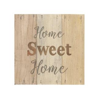 Impressão Em Madeira Casa doce | Home da casa da quinta VI