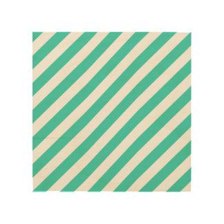 Impressão Em Madeira Cerceta e teste padrão diagonal branco das listras