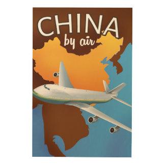 Impressão Em Madeira China pelo poster de viagens do ar