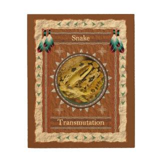 Impressão Em Madeira Cobra - canvas da madeira do transmutation