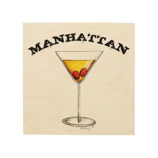 Impressão Em Madeira Comida do barman do bar da bebida misturada do