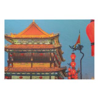 Impressão Em Madeira Construção da parede da cidade de Xi'An