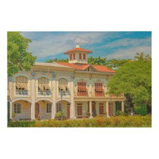 Impressão Em Madeira Construções históricas, Parque Historico,