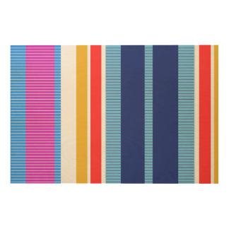 Impressão Em Madeira Cores corajosas, design gráfico da multa