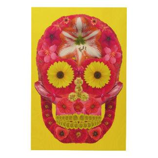 Impressão Em Madeira Crânio 6 da flor