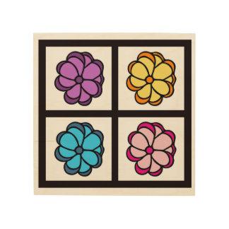 Impressão Em Madeira Desenho da flor