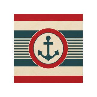 Impressão Em Madeira Design náutico