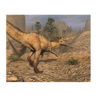 Impressão Em Madeira Dinossauro de Austroraptor