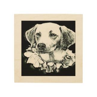 Impressão Em Madeira Esboço bonito do lápis de Labrador