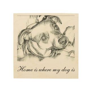 Impressão Em Madeira Esboço do lápis do terrier de Jack Russell com