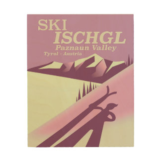 Impressão Em Madeira Esqui Ischgl, vale Tirol de Paznaun