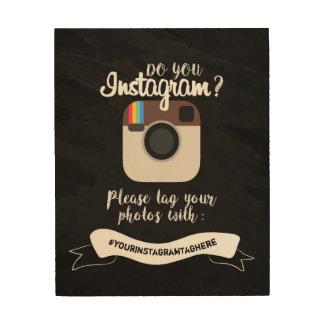 """Impressão Em Madeira Faça-o o sinal 8"""" de Instagram"""" a madeira x10"""