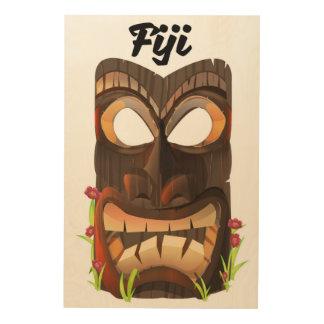 Impressão Em Madeira Fiji cinzelou a máscara
