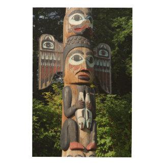 Impressão Em Madeira Fim de pólo de Totem acima, Alaska