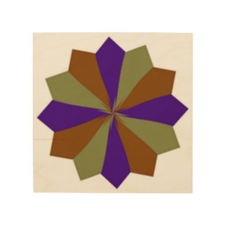Impressão Em Madeira flor de papel