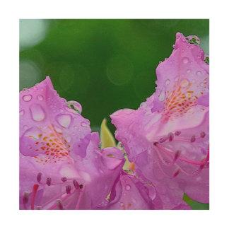 Impressão Em Madeira Flor violeta