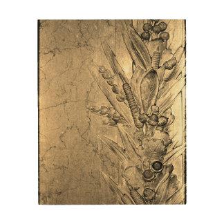 Impressão Em Madeira Flores do amor