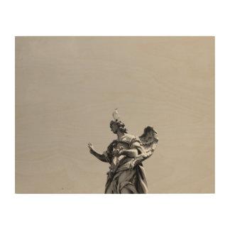 Impressão Em Madeira Foto simples, moderna da gaivota sobre a estátua