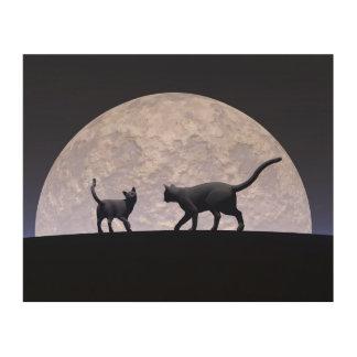 Impressão Em Madeira Gatos românticos