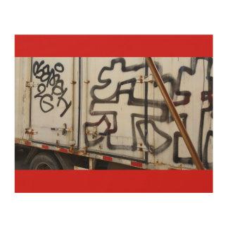 Impressão Em Madeira Grafites do caminhão de Beijing