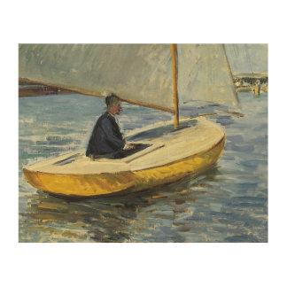 Impressão Em Madeira Gustave Caillebotte - o barco amarelo
