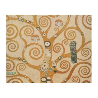 Impressão Em Madeira Gustavo Klimt a árvore da arte Nouveau da vida