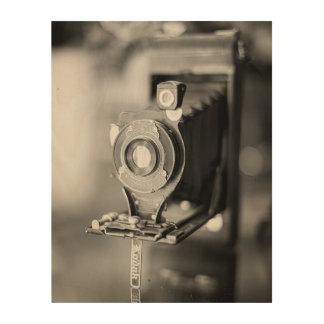 Impressão Em Madeira Impressão da câmera de Kodak do vintage