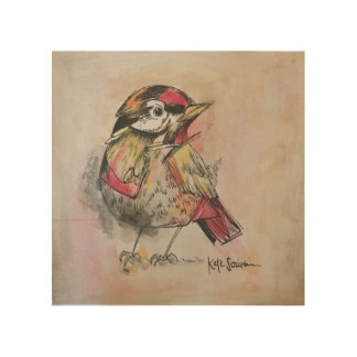 Impressão Em Madeira IMPRESSÃO de madeira do pássaro