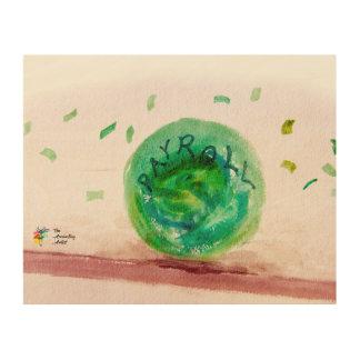 Impressão Em Madeira Impressão engraçado da arte da folha de pagamento