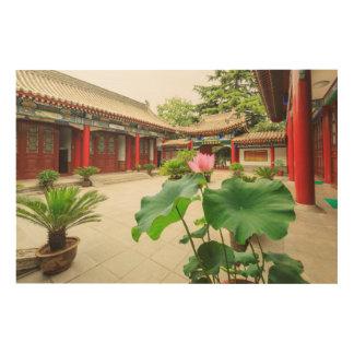 Impressão Em Madeira Interior do pagode de China
