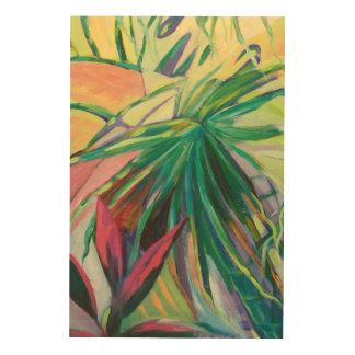 Impressão Em Madeira Jardin Abstracto mim