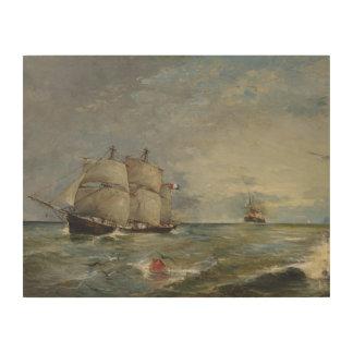 Impressão Em Madeira Joaquin Sorolla - veleiros no mar