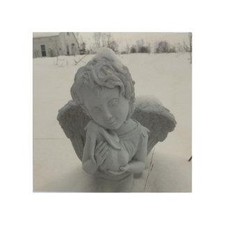 Impressão Em Madeira Lá, lá, coelho do bebê… Arte do anjo