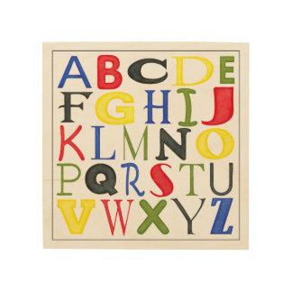 Impressão Em Madeira Letras brilhantemente coloridas por Megan Meagher