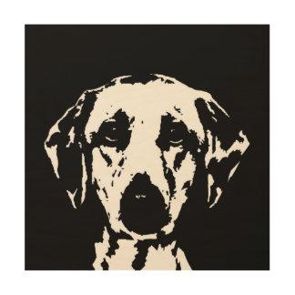 """Impressão Em Madeira Madeira 12"""" do estêncil de Labrador"""" arte da"""