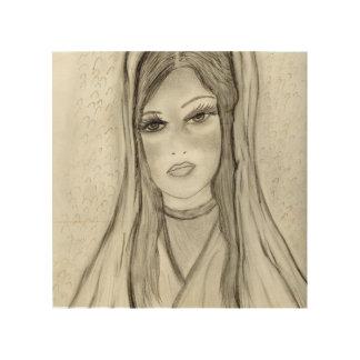 Impressão Em Madeira Mary divina