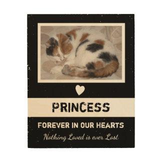 Impressão Em Madeira Memorial rústico personalizado do animal de