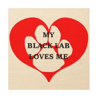 Impressão Em Madeira meu laboratório do preto ama-me