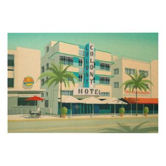 Impressão Em Madeira Miami