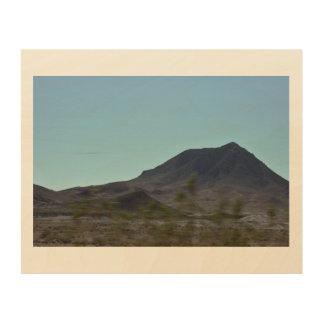Impressão Em Madeira Montanhas de Nevada