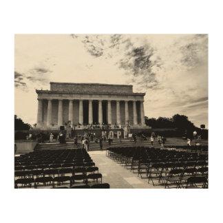 Impressão Em Madeira Monumento de Lincoln