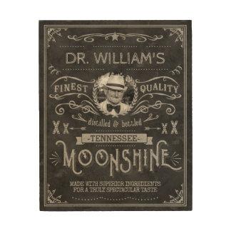 Impressão Em Madeira Moonshine cinzas do costume do vintage da medicina