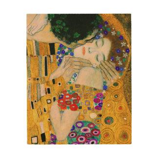 Impressão Em Madeira O beijo por Gustavo Klimt