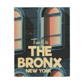 Impressão Em Madeira O poster de viagens da Nova Iorque de Bronx