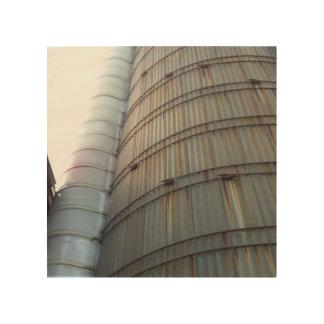 Impressão Em Madeira O silo velho