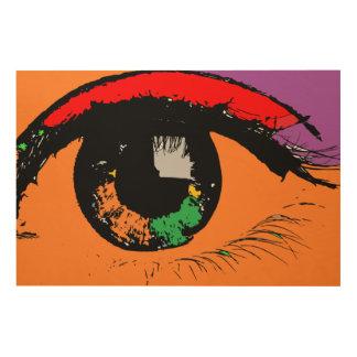 Impressão Em Madeira Olho