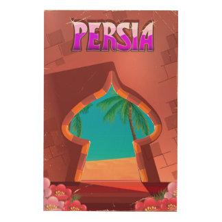 Impressão Em Madeira Palácio de Persia