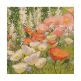 Impressão Em Madeira Pastels do jardim